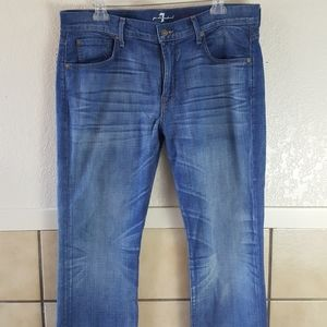 7 For all Mankind Striaght leg jeans 36 EUC
